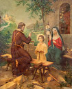 Typical Catholic Image Printed Image Of Holy Family From The End Of 19. Cent. Royalty Free Stock Photography - 59618177