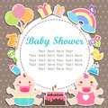 Baby Boy And Girl Shower Care With Place For Your Text Royalty Free Stock Photography - 59627017