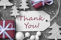 Christmas Label Gift Tree Snowflakes Thank You Stock Images - 59642884