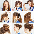 Step By Step Hairstyle Idea For Blog Royalty Free Stock Photography - 59653177