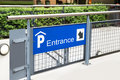 Entrance Of Parking Lot Stock Images - 59658084