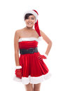 Young  Christmas Girl Smile Isolated On White Background Stock Photos - 59661283