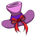 Lady Hat, Vector Illustration. Royalty Free Stock Photography - 59664537
