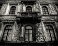 Spooky House With Dead Vines Royalty Free Stock Photos - 59685568