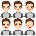 Teenage Boy Face Expressions Stock Images - 59691524