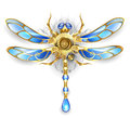 Mechanical Dragonfly On A White Background Stock Photos - 59694853