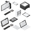 Computer And Office Devices Detailed Isometric Icon Set Royalty Free Stock Photography - 59697547