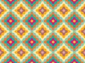 Vector Modern Seamless Colorful Geometry Pattern Flowers Royalty Free Stock Photography - 59702817