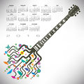 A 2016 Funky Guitar Calendar Royalty Free Stock Images - 59709069
