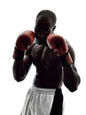 Man Boxers Boxing Isolated Silhouette Royalty Free Stock Photo - 59709835