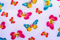 Texture Of Print Fabric Striped Butterfly Stock Photos - 59717273