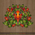 Floral Hand Draw Element From Flower Leaves And Berries Stock Images - 59720964