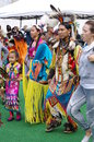 Pow-wow Dancers Of The Plains Tribes Of Canada Royalty Free Stock Photography - 59726267
