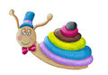Funny Snail With Hat And Bow Tie Stock Photography - 59730042
