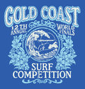 Vintage Surfing T-shirt Graphic Design. Gold Coast Surf Competition. Stock Photography - 59742592