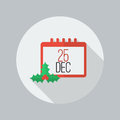 Christmas Day Calendar Flat Icon Royalty Free Stock Image - 59754846