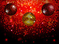 Disco Balls Over Red Sparkling Tiles Wall Background Stock Images - 59764594