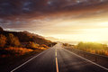 Road By The Sea In Sunrise Time,  Lofoten Island, Norway Stock Image - 59767631