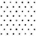 Black And White  Polka Dot Seamless Pattern Paint Stock Photo - 59777470