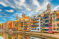 Colorful Houses In Girona, Catalonia, Spain Stock Photography - 59784362