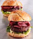 Roast Beef Burger On A Sesame Bun Stock Photos - 59800213