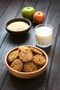 Oatmeal Apple Cookies Royalty Free Stock Image - 59806426