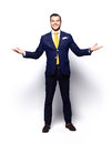Excited Handsome Business Man With Arms Raised In Success Stock Photo - 59807260