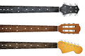 Set Of Guitar Neck Fretboard And Headstock Stock Photo - 59822320