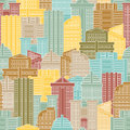 Urban Seamless Pattern. Colorful Buildings In City, Metropolis. Stock Images - 59829224