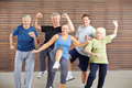 Senior People At Piloxing Class In Gym Royalty Free Stock Photo - 59840005