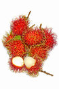 Group Of Fresh Rambutan Fruit On White Background. Stock Photography - 59840122