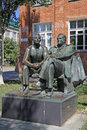 Sculpture Of The First Cosmonaut Yuri Gagarin And The Famous Rocket Engineer Sergey Korolev, Taganrog, Russia Stock Image - 59844521