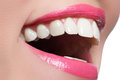 Perfect Smile After Bleaching. Dental Care And Whitening Teeth. Woman Smile With Great Teeth. Close-up Of Smile With White Healthy Royalty Free Stock Photo - 59846035