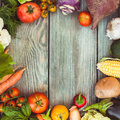 Vegetables On Wooden Table Stock Photo - 59885980