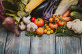 Vegetables On Wooden Table Stock Images - 59886044