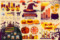 Set Of Halloween Infographic Elements With Icons Stock Photography - 59899532