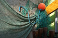Fishing Net On A Wall. Royalty Free Stock Photo - 59902475