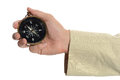 Hand Of Man Holding Compass Royalty Free Stock Photography - 59911167