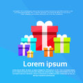 Gift Box Colorful Set Present Flat Vector Royalty Free Stock Photo - 59911575