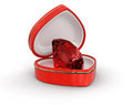 Ruby In The Heart Box (clipping Path Included) Stock Photos - 59919533