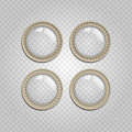 Transparent Glass Buttons Stock Photography - 59927342