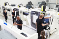High Angle View Of Engineering Workshop With CNC Machines Royalty Free Stock Image - 59928936