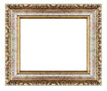 Old Antique Gold Frame Isolated Decorative Carved Wood Stand Royalty Free Stock Photography - 59934757