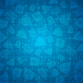 Blue Christmas Background With Bell, Star, Snow, Tree, Vector Stock Photography - 59939332