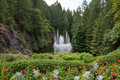 Water Fountain, Butchart Gardens, Victoria, BC, Canada Stock Photography - 59939812