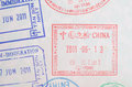 China Visa Passport Stamps Royalty Free Stock Photography - 59991387
