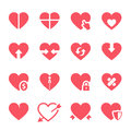 Vector Hearts Icons Set Royalty Free Stock Photography - 59998717