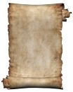 Manuscript Rough Roll Of Parchment Paper Texture Background Isolated On White Royalty Free Stock Photo - 602305