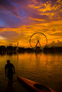 Evening With Eyes On Malaysia Stock Image - 6003361
