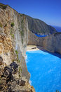 Navagio Beach  On Zakynthos Island At Sunset, Greece Royalty Free Stock Photography - 60004497